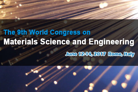 The 9th World Congress on Materials Science and Engineering